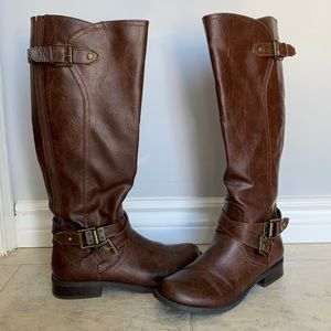 Tall Brown G by Guess boots